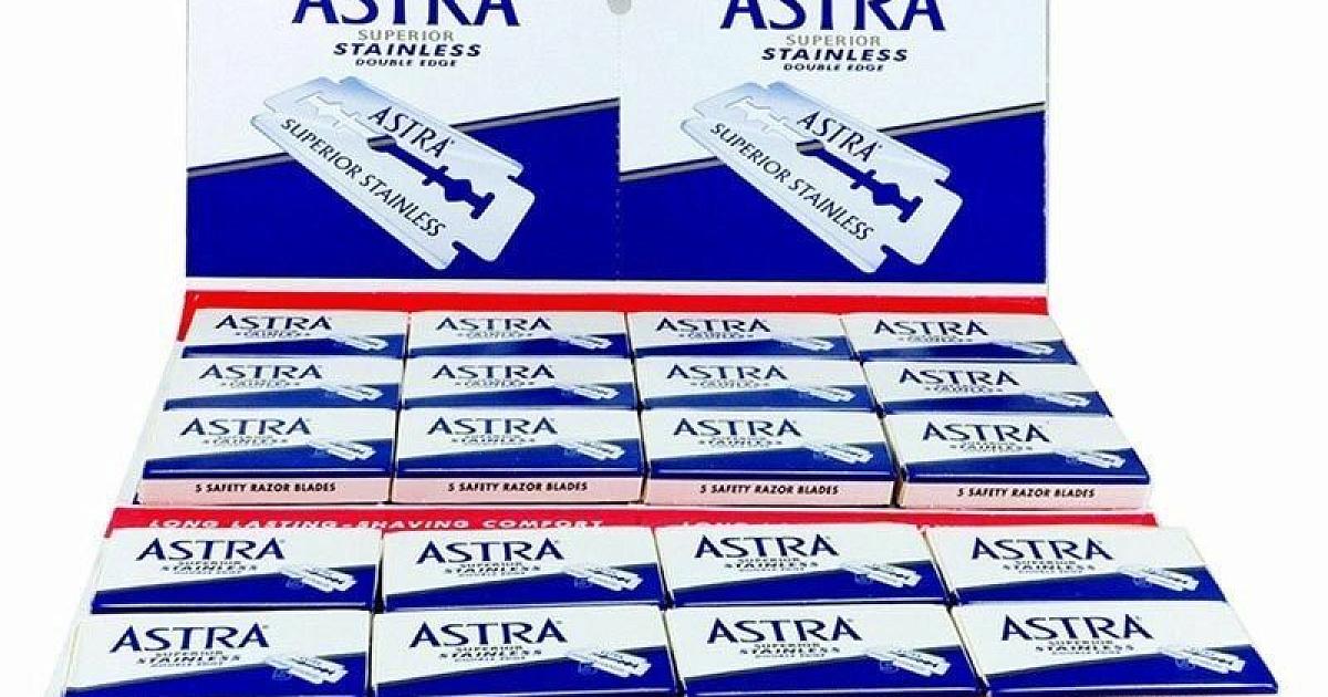 Лезвия Astra Stainless (синие, 20*5 лезвий) — купить с доставкой